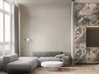 he.d group Scandinavian style living room Stone Grey