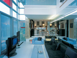 SERPİCİ's Mimarlık ve İç Mimarlık Architecture and INTERIOR DESIGN Paesaggio d'interni PVC Grigio