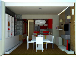 SERPİCİ's Mimarlık ve İç Mimarlık Architecture and INTERIOR DESIGN Paesaggio d'interni PVC Bianco