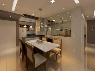 Apartamento FP DTE Arquitetura e Consultoria LTDA Salas de jantar modernas
