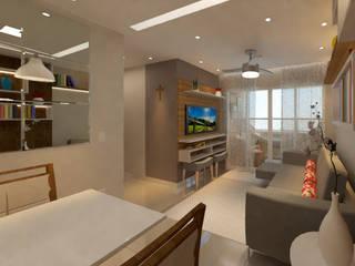 Apartamento FP DTE Arquitetura e Consultoria LTDA Salas de estar modernas