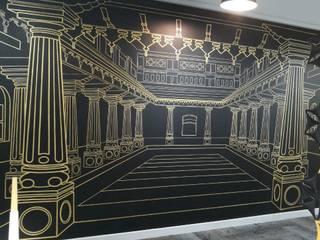 interior art work for IT company by Caprico facilitis services pvt ltd