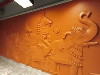 mud toy art work by Caprico facilitis services pvt ltd