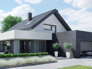 Projekt domu HomeKONCEPT 56 od HomeKONCEPT   Projekty Domów Nowoczesnych Nowoczesny