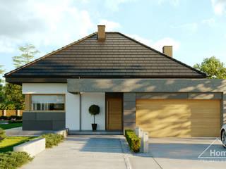 Projekt domu HomeKONCEPT 57 od HomeKONCEPT   Projekty Domów Nowoczesnych Nowoczesny