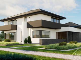 Projekt domu HomeKONCEPT 59 od HomeKONCEPT   Projekty Domów Nowoczesnych Nowoczesny