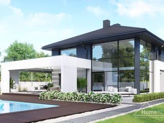 Projekt domu HomeKONCEPT 60 od HomeKONCEPT   Projekty Domów Nowoczesnych Nowoczesny