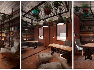 Дизайн интерьера общественных помещений Офисные помещения в стиле лофт от Design Studio «INTERIO» Лофт