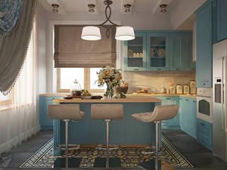 Дизайн интерьера коттеджа Кухня в скандинавском стиле от Design Studio «INTERIO» Скандинавский