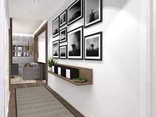 Couloir, entrée, escaliers modernes par PLAN B INTERIORISMO Moderne