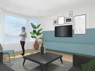 Interieurontwerp leefverdieping Beverwijk Moderne woonkamers van Atelier Perspective Interieurarchitectuur Modern