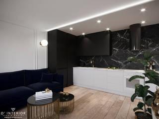 Nowoczesny apartament od D' INTERIOR. STUDIO WNĘTRZ Nowoczesny