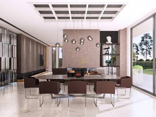 Villa 206 - İç Mekan Tasarımı, Bursa Modern Yemek Odası CM² Mimarlık ve Tasarım Stüdyosu Modern
