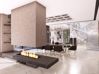 CM² Mimarlık ve Tasarım Stüdyosu – Villa 206 - İç Mekan Tasarımı, Bursa: modern tarz , Modern