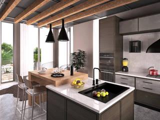 Teras Loft Villa - İç Mekan Tasarımı, Nilüferköy-Bursa Modern Mutfak CM² Mimarlık ve Tasarım Stüdyosu Modern