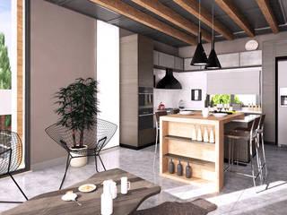 CM² Mimarlık ve Tasarım Stüdyosu – Teras Loft Villa - İç Mekan Tasarımı, Nilüferköy-Bursa: modern tarz , Modern