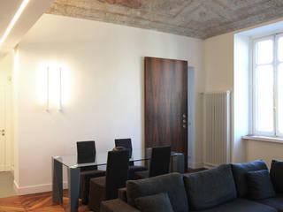 Palazzo Biancamano Onice Architetti Soggiorno eclettico Legno Bianco