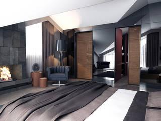 Teras Loft Villa - İç Mekan Tasarımı, Nilüferköy-Bursa Modern Yatak Odası CM² Mimarlık ve Tasarım Stüdyosu Modern