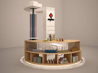 CM² Mimarlık ve Tasarım Stüdyosu – Amphora Sabunları - Kiosk Tasarımı, Alaçatı/Çeşme-İzmir: minimalist tarz , Minimalist