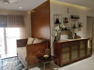Saloni Narayankar Interiors Living roomCupboards & sideboards Solid Wood Brown