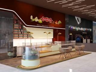 Zorlu Center'da Food Hall Katında Baklava Kiosk Mağazası Erler Mimarlık Modern