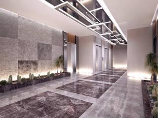 Memur-Sen Konutları, Uşak Modern Koridor, Hol & Merdivenler CM² Mimarlık ve Tasarım Stüdyosu Modern