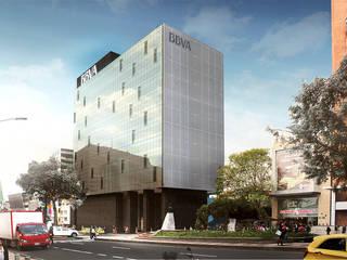 Proyecto BBVA COLOMBIA - Sede Central - Avenida 72 / Atlantico Arqs Estudios y despachos minimalistas de ATLANTICO ARQS Minimalista
