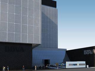 Proyecto BBVA COLOMBIA - Sede Central - Avenida 72 / Atlantico Arqs Estudios y despachos modernos de ATLANTICO ARQS Moderno