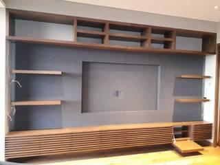 Muro Recubierto en Tela de ACY Diseños & Muebles Moderno