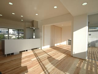 光が丘邸 奥迫眞一建築設計事務所 二世帯住宅 無垢材 木目調