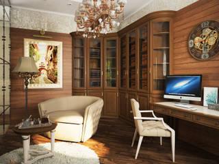 Дизайн проект интерьера дома в классическом стиле Рабочий кабинет в классическом стиле от Дизайн-студия 'Mankaraya' Классический