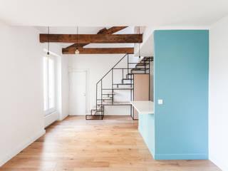 Duplex à Charenton Salon moderne par Katarina Mijić Moderne