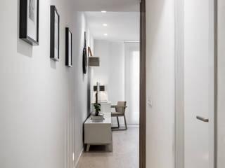 Vivienda GS Pasillos, vestíbulos y escaleras de estilo moderno de Destudio Arquitectura Moderno