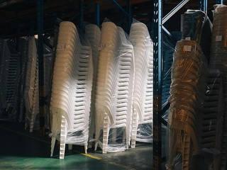 Palmiye Koçak Sandalye Masa Koltuk Mobilya Dekorasyon Balkon, weranda i tarasMeble Plastik Biały