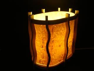 Holzlampe- Nordlicht 2 aus Fichte & Birkenfurnier -Hängelampe - Deckenlampe von Jochens-Elch-O-Thek Skandinavisch