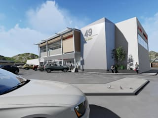 Proposed new Facade for Local Commercial Building by PrinsARCH | Architectural Studio Industrial