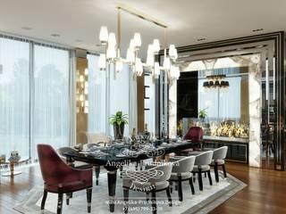 Sala da pranzo moderna di Дизайн-студия элитных интерьеров Анжелики Прудниковой Moderno