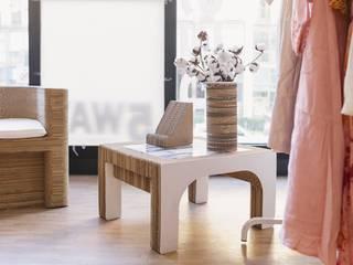 Sekkei Design Sostenibile Living roomTV stands & cabinets White