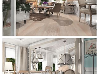 Дизайн - проект гостиной в стиле Бохо Гостиная в средиземноморском стиле от GoodFamilyHome by Irina Otadzhi Средиземноморский