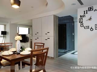 現代時尚女主人的工作住家宅(30坪3+1房大視野) 根據 卡比斯室內裝修設計有限公司 現代風