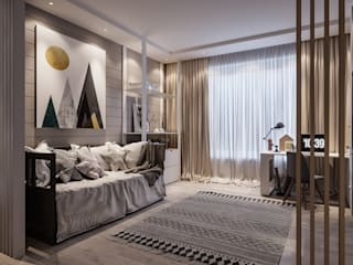Проект комнаты для школьника в частном доме от Александр Бабаджанян Минимализм