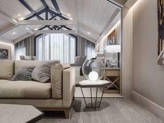 Спальня на мансардном этаже загородного дома Спальня в средиземноморском стиле от Александр Бабаджанян Средиземноморский