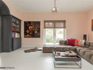 Villa White Lodge Noordwijk Industriële woonkamers van Global Architects Industrieel