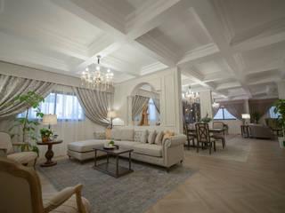 Salas de estar coloniais por FN Design Colonial