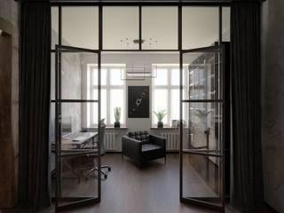 Nowoczesne mieszkanie w stylu loft [60m²] Industrialny salon od Holi Home Industrialny