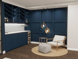 DISEÑO REFORMA PARCIAL VIVIENDA EN LAS PALMAS DE GRAN CANARIA INARQ Espacio Bodegas de estilo moderno Azul
