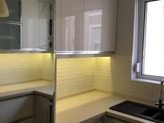 Dar alanda kullanışlı mutfak çalışmamız ÇAĞ MUTFAK MİMARLIK TASARIM MutfakDolap & Raflar Ahşap Beyaz