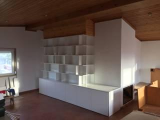 Bichinho Da Madeira Ruang Keluarga Modern Chipboard White
