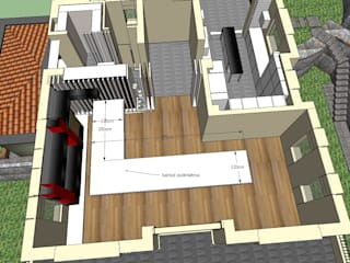 SERPİCİ's Mimarlık ve İç Mimarlık Architecture and INTERIOR DESIGN Interior landscaping Kayu Wood effect