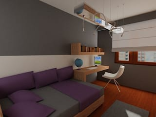 SERPİCİ's Mimarlık ve İç Mimarlık Architecture and INTERIOR DESIGN Study/officeAccessories & decoration Komposit Kayu-Plastik Grey